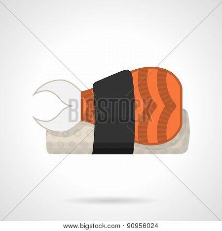 Sushi bento flat vector icon