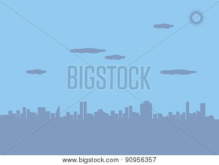 Urban City Silhouette Vector Background