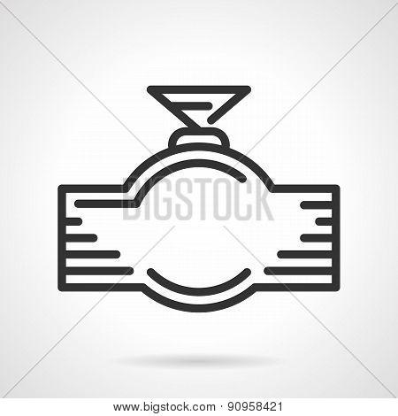 Faucet black line vector icon