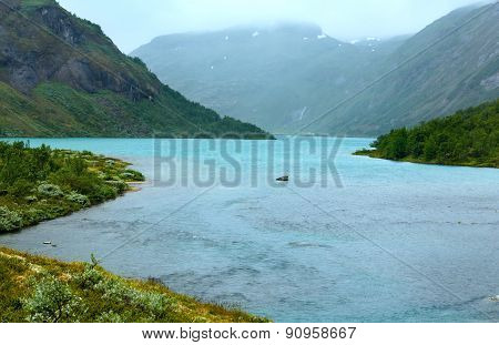 Summer Mountain And Fjord (norway)