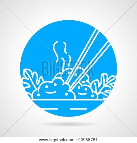 Rice dish abstract vector icon
