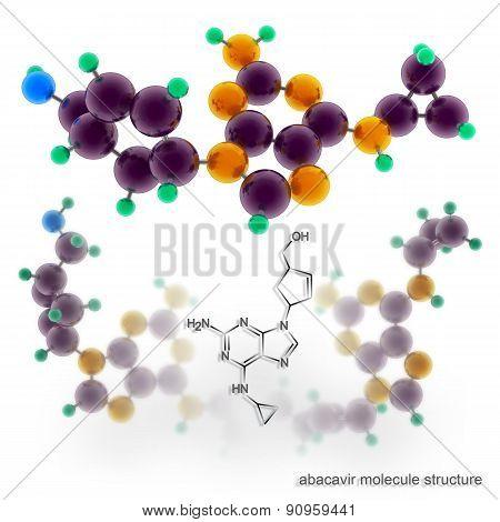 Abacavir Molecule Structure