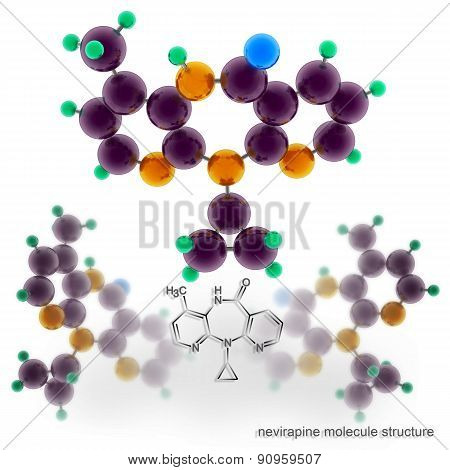 Nevirapine (viramune) Molecule Structure