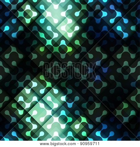 Green geometric diagonal pattern