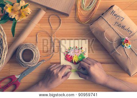 Making birthday card