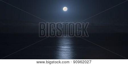 Beauty Dark Sunshine On Sea