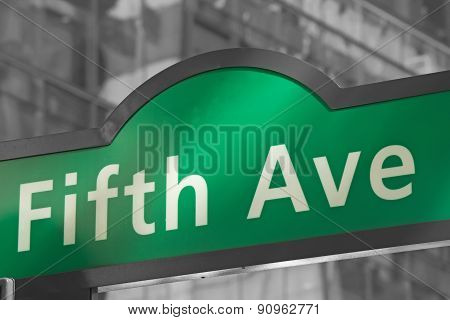 Street Signs For Fifth Avenue In Nyc