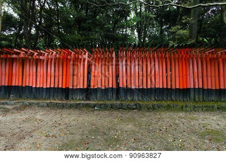 Torii gates at Fushimi Inari-Taish shrine in Kyoto Japan