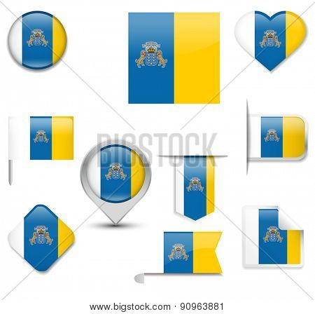 Canary Islands Flag Collection