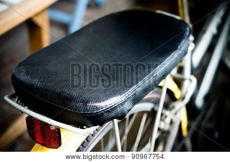 Beautiful vintage bicycle seat