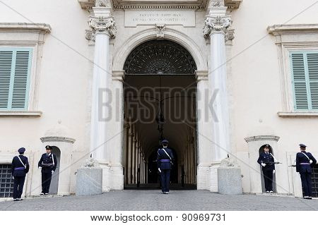 Quirinale Palace Guards Change