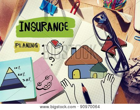 Insurance Document Home Residental Structure Concept