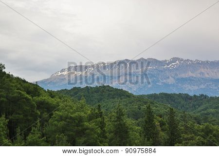 Mountain Scenery In Nature Park Near Kemer