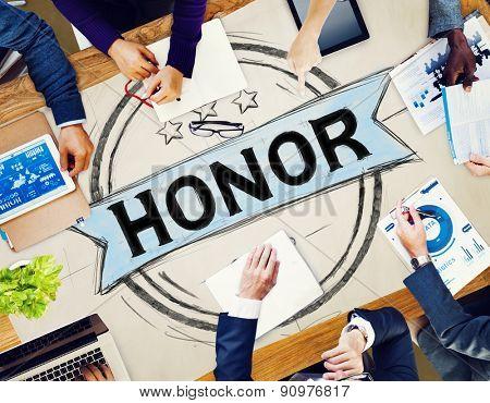 Honor Integrity Success Victory Achievement Concept