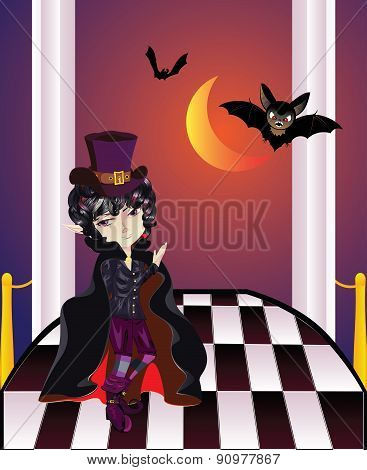 Vampire On Balcony