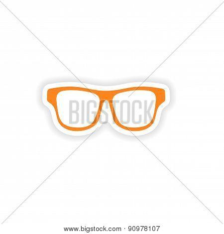 icon sticker realistic design on paper sunglasses