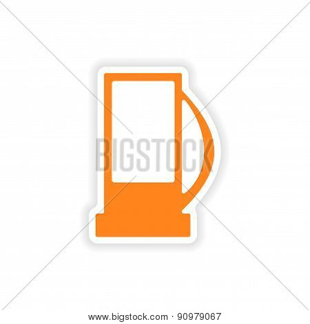 icon sticker realistic design on paper refill