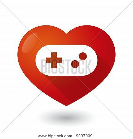 Heart Icon With A Game Pad