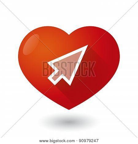 Heart Icon With A Cursor