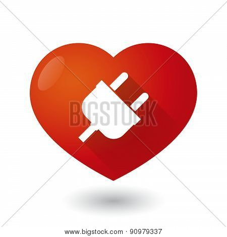 Heart Icon With A Plug