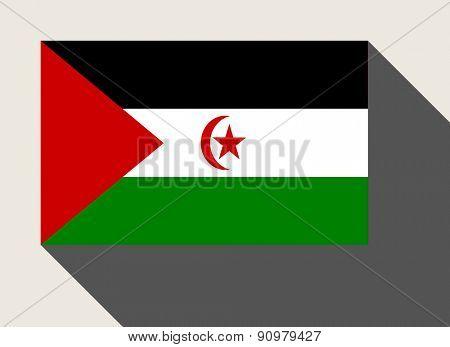 Western Sahara flag in flat web design style.