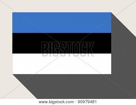 Estonia flag in flat web design style.
