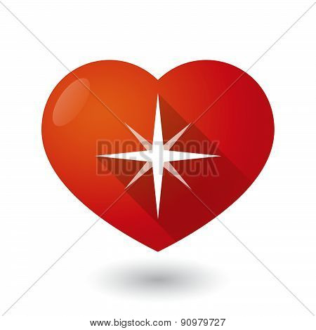 Heart Icon With A Star