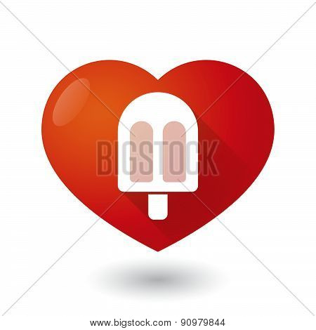 Heart Icon With An Ice Cream