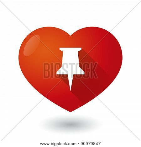 Heart Icon With A Push Pin