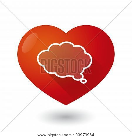 Heart Icon With A Cloud Comic Balloon