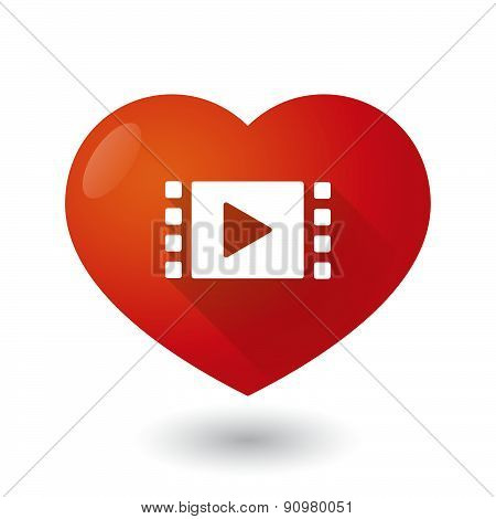 Heart Icon With A Multimedia Sign