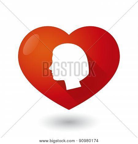 Heart Icon With A Female Head