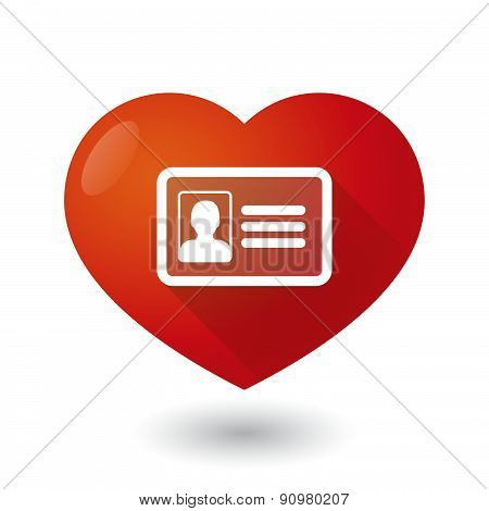 Heart Icon With An Id Card