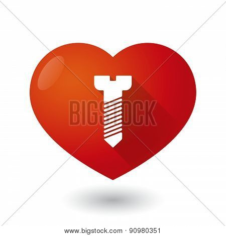 Heart Icon With A Screw