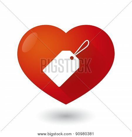 Heart Icon With A Shopping Label