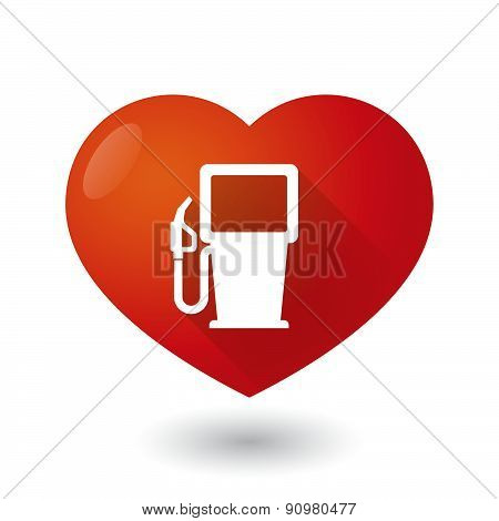 Heart Icon With A Gas Station