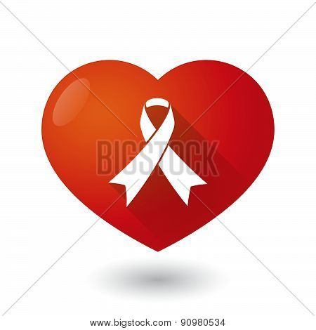 Heart Icon With An Awareness Ribbon