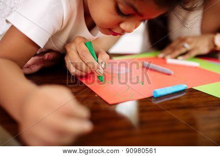Looking at drawing