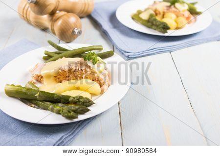 A salmon fillet