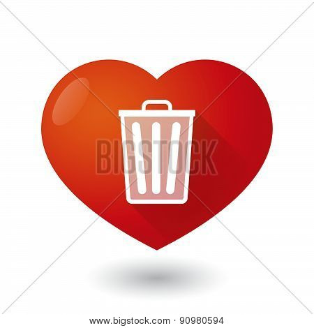 Heart Icon With A Trash Can