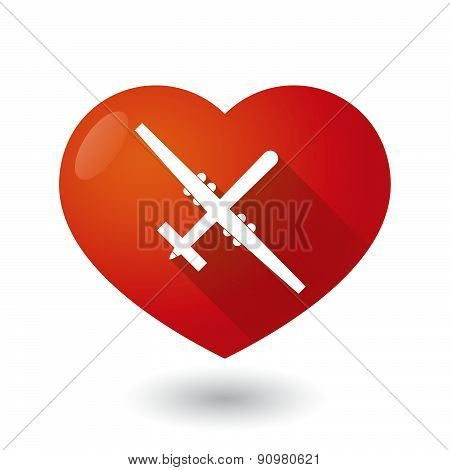 Heart Icon With A War Drone