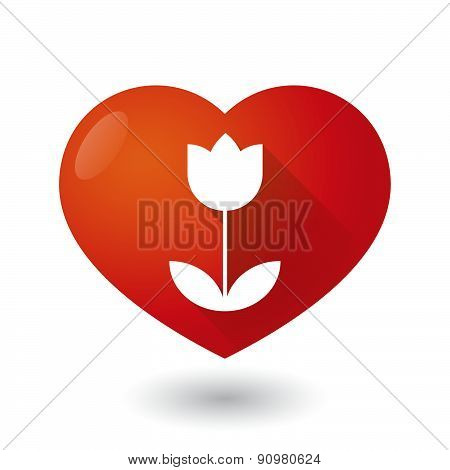 Heart Icon With A Tulip