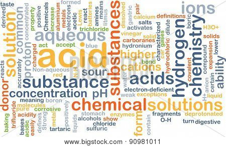 Background concept wordcloud illustration of acid