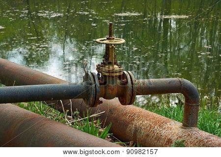 Rusty Pipes Of The Old Pipeline