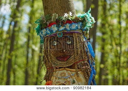 The Pagan Idol In The  Woods.