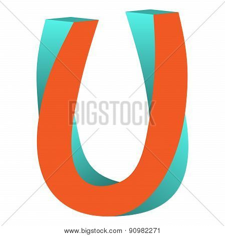 Twisted Letter U Logo Icon Design Template Element