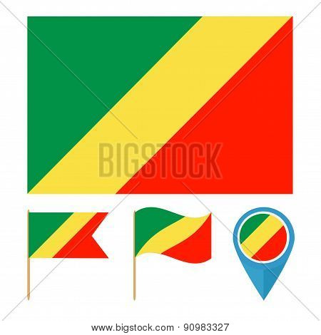 Congo,country flag