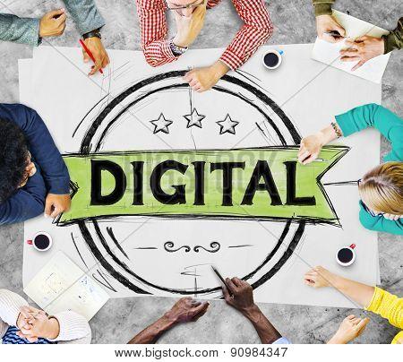 Digital Technology Technology Electronic Concept