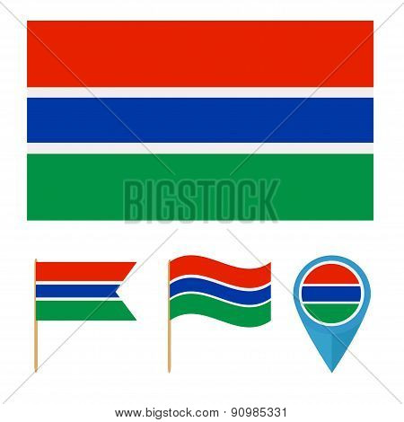 Banjul,country flag