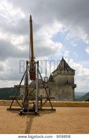 Trebuchet in Castelnaud, Frankreich